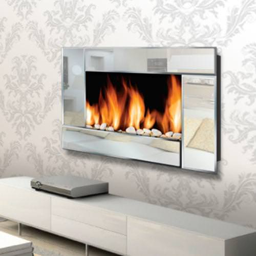 Image of: Electric Wall Mounted Fireplaces Clearance