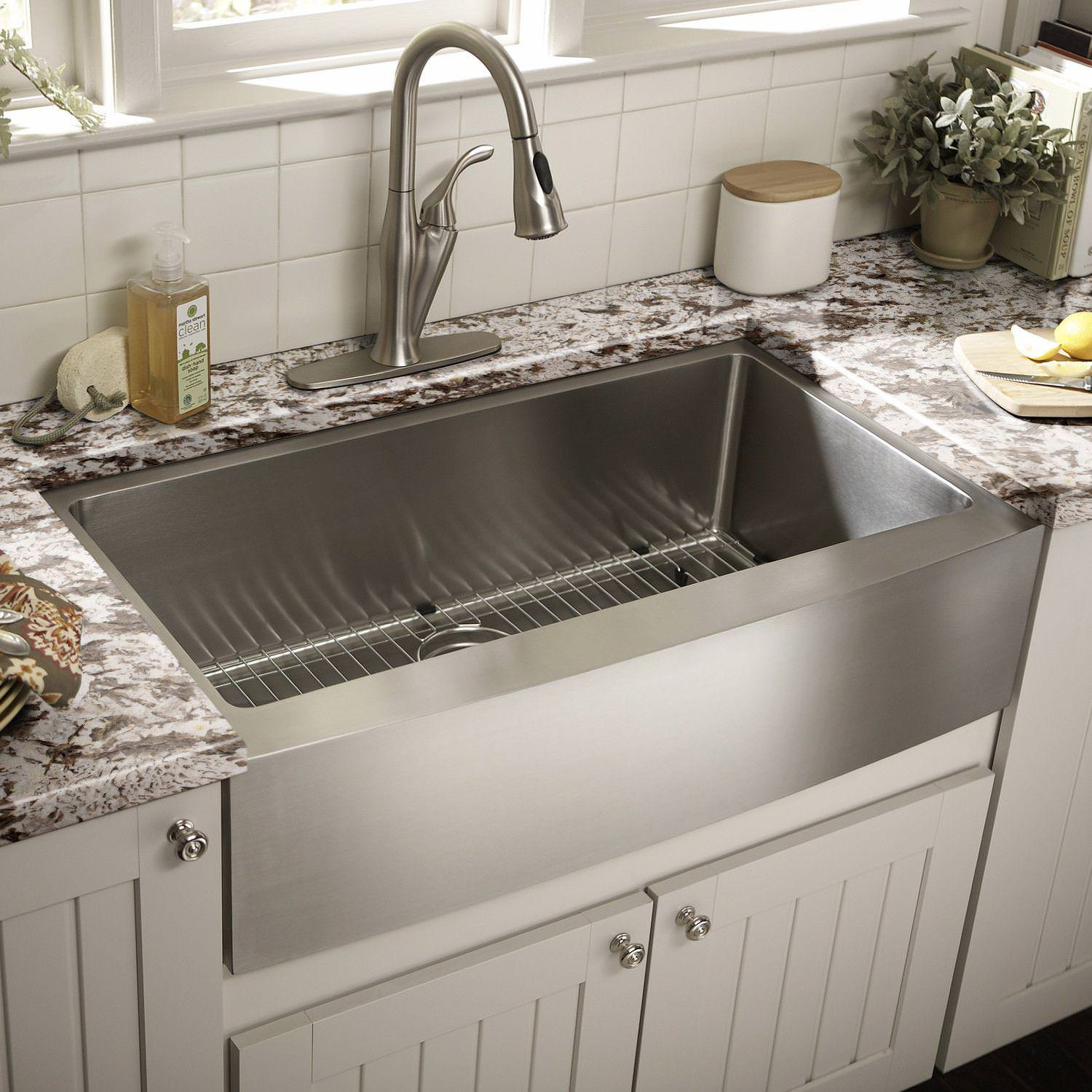 Picture of: Useful Farmhouse Sink Stainless Steel