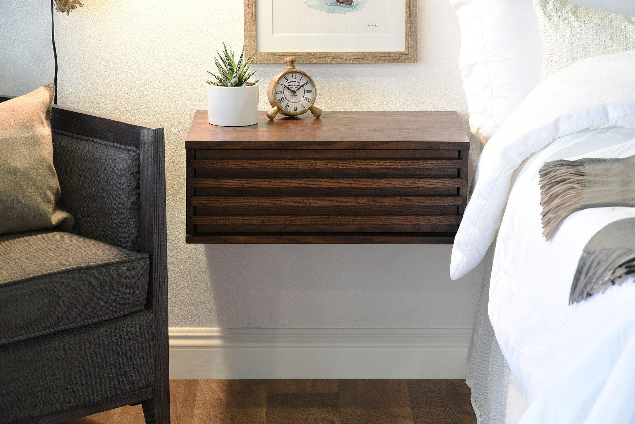 Picture of: Floating Nightstand Shelf