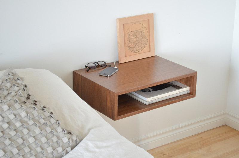Picture of: Floating Nightstand Shelves