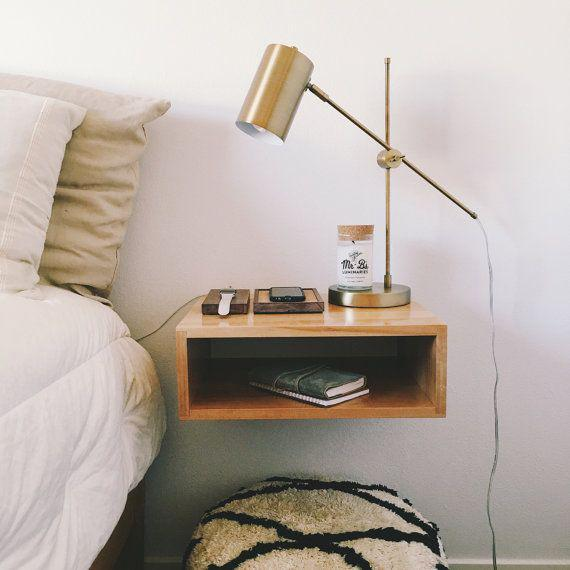 Picture of: Floating Nightstand White
