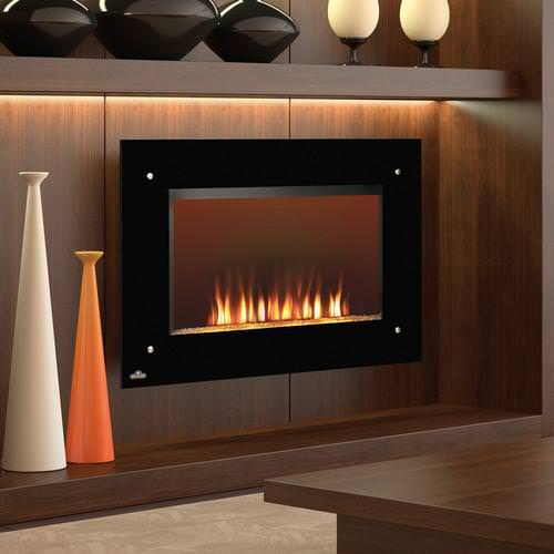 Image of: Gas Wall Fireplace