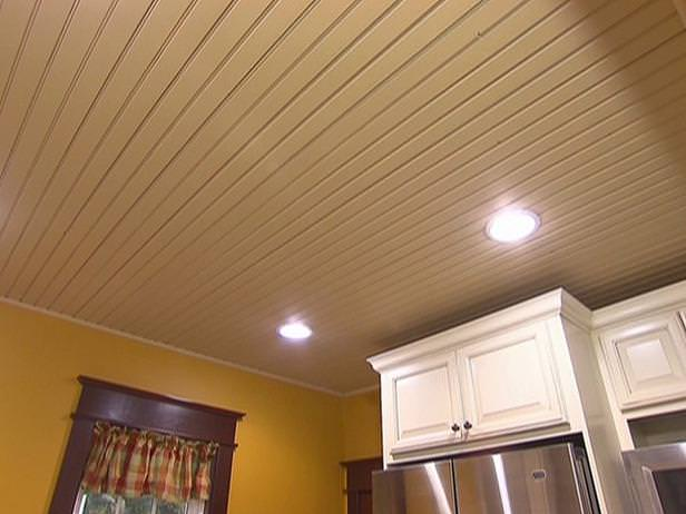 Image of: Low Cost Tongue And Groove Ceiling