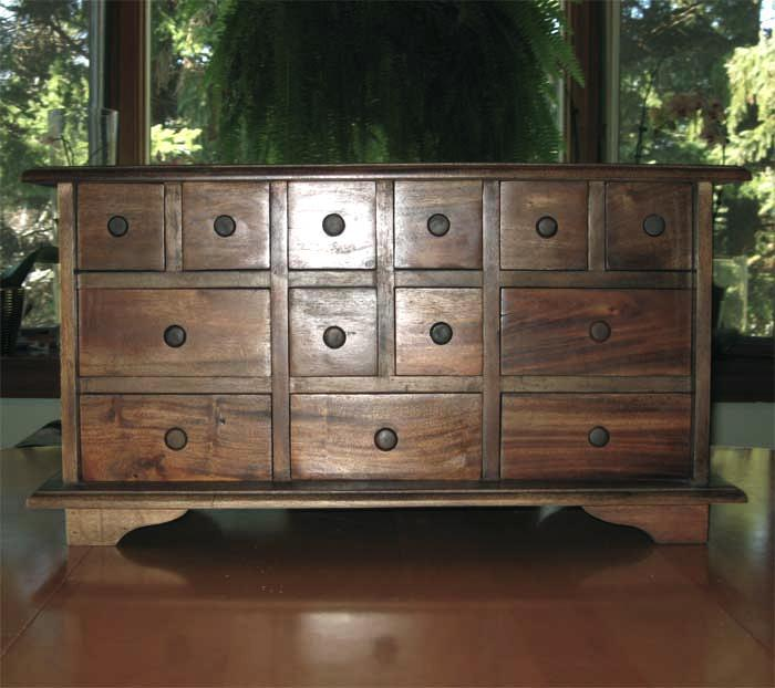 Image of: Monarch Apothecary Bombay Chest