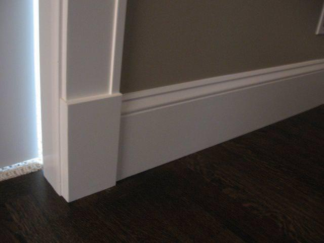 Image of: Nailing Baseboard Trim
