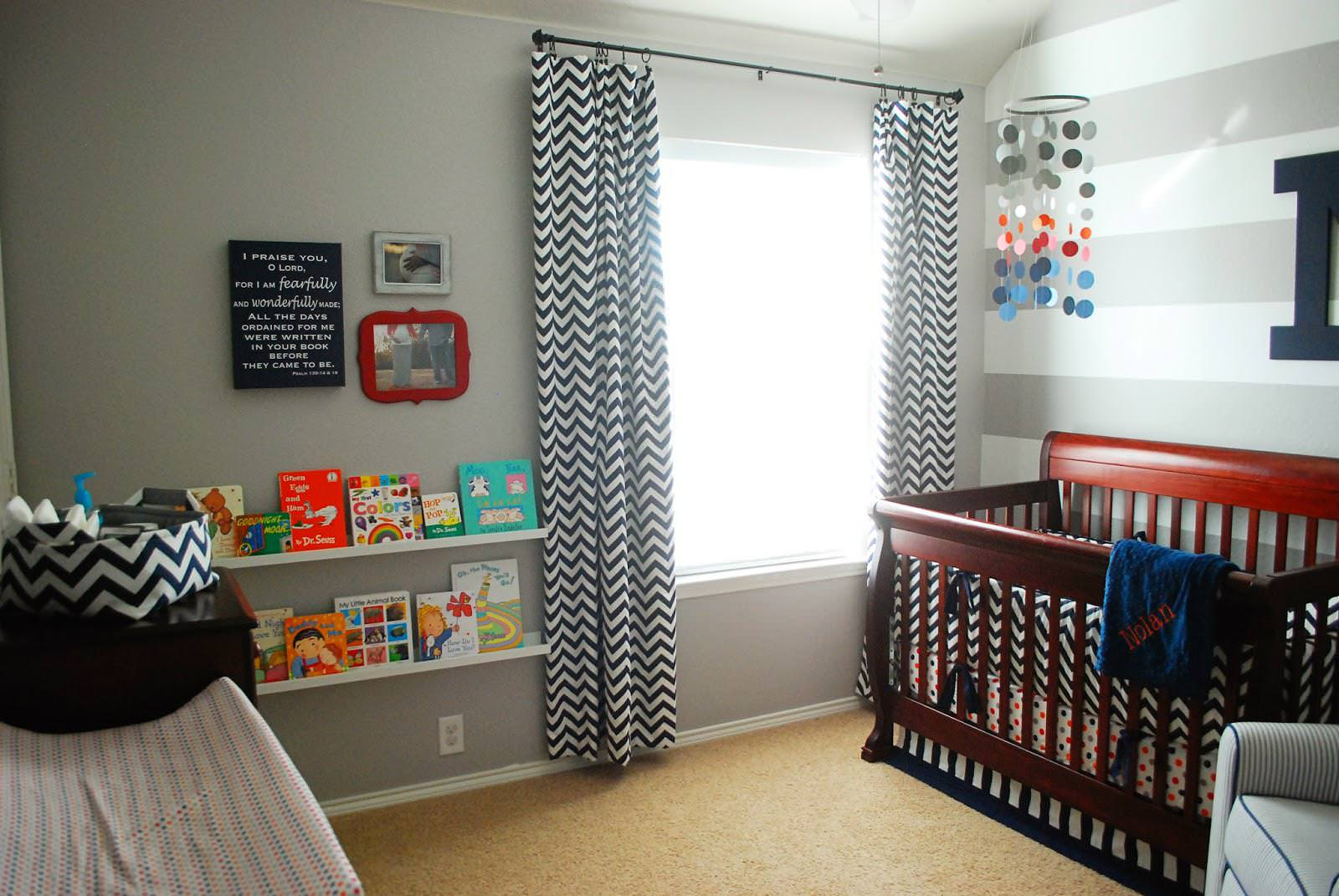 Image of: Nursery Curtains Boy