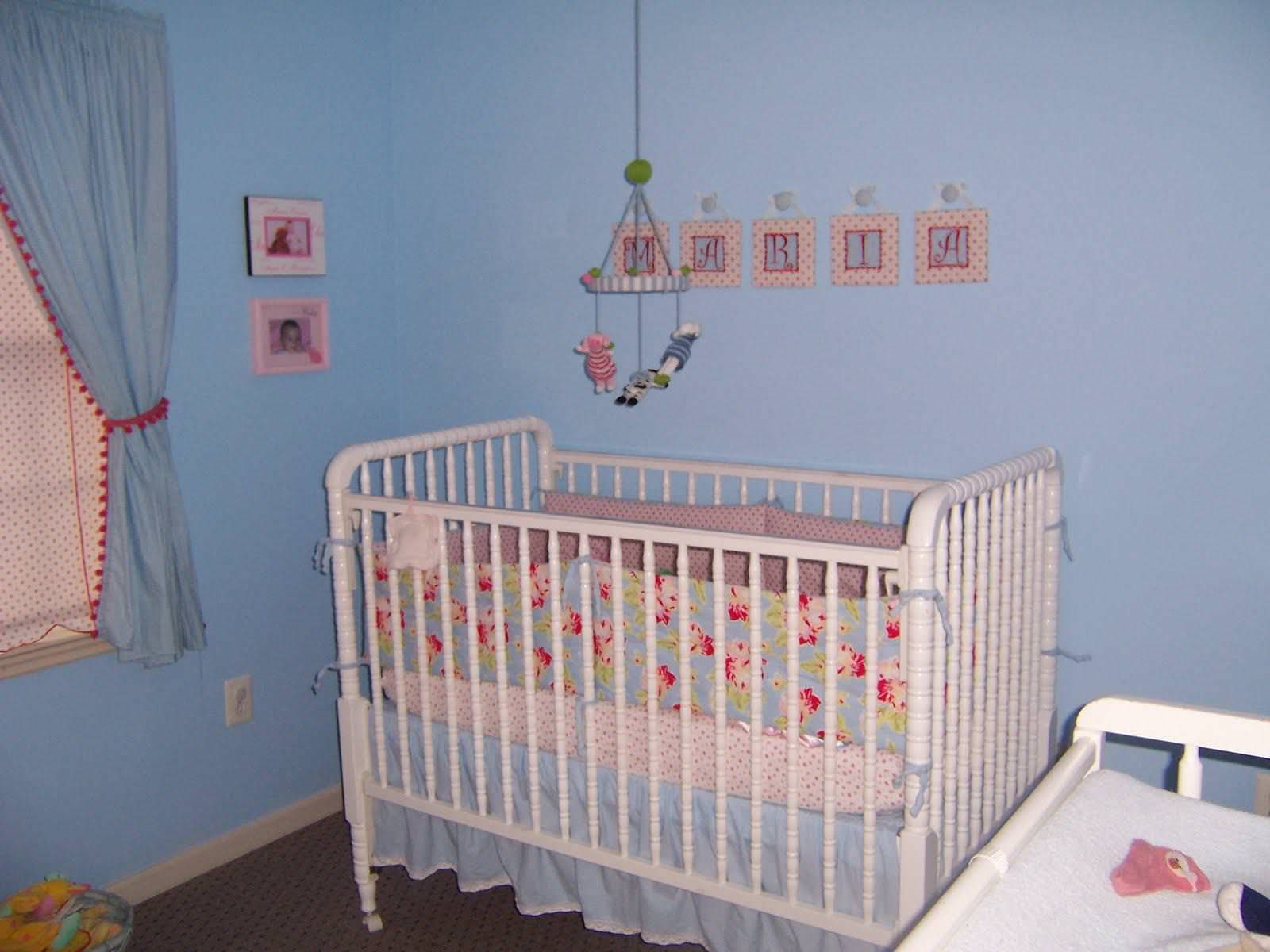 Image of: Nursery Curtains Girl
