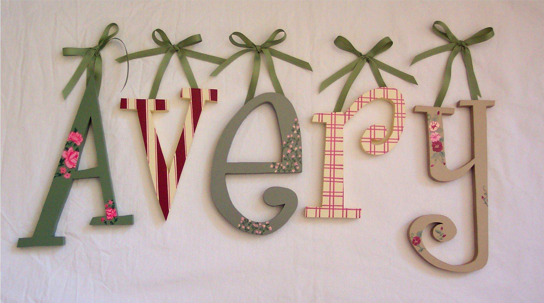 Picture of: Nursery Letters Diy