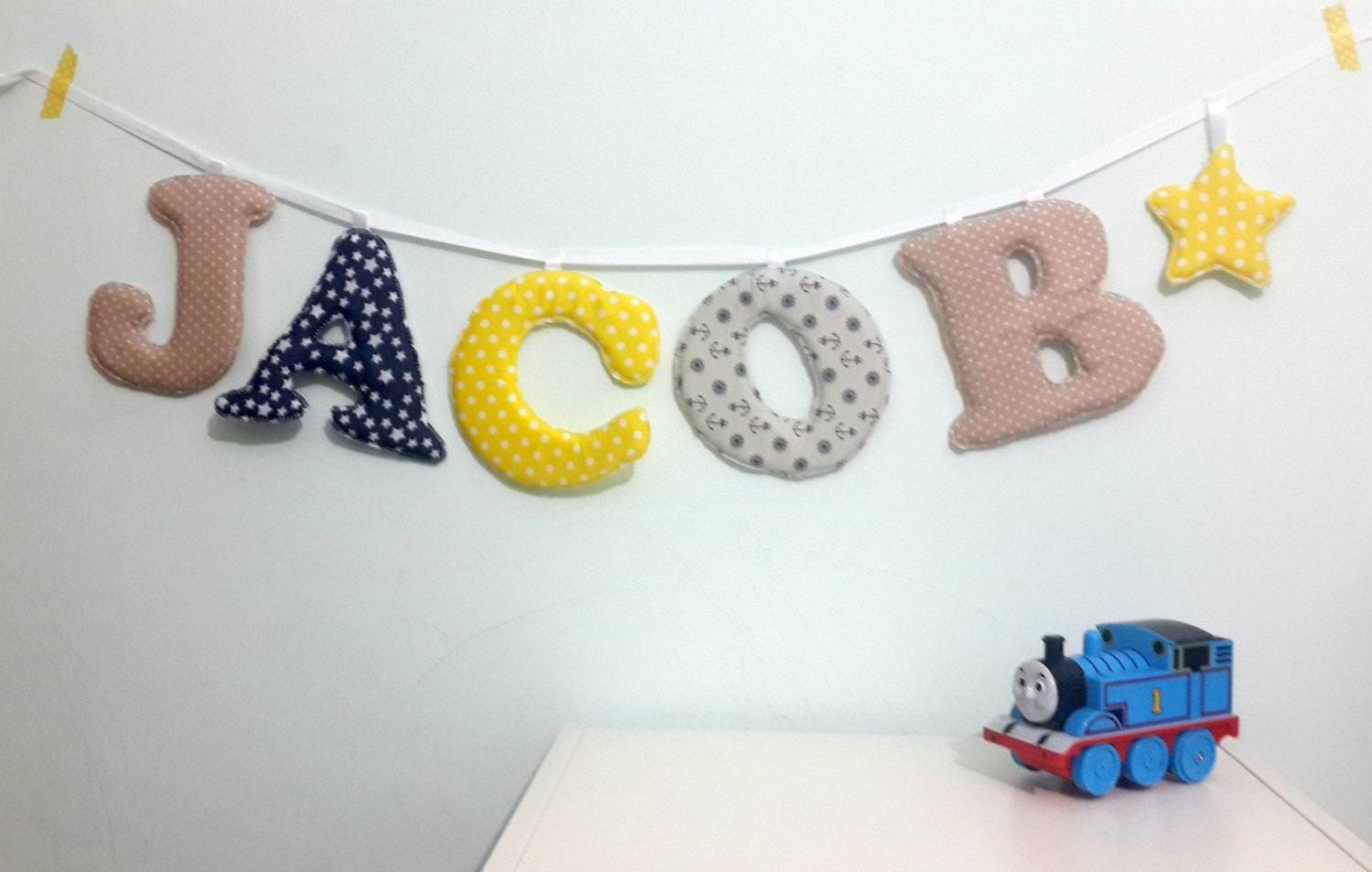 Picture of: Nursery Wall Letters Boy