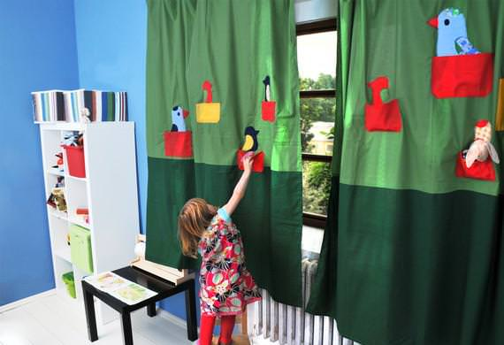Picture of: Nursery Window Curtains