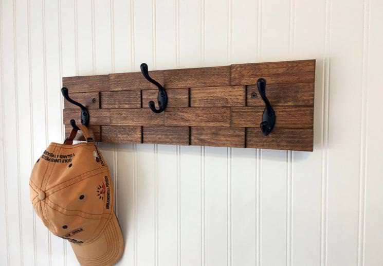 Picture of: Rustic Wall Coat Rack