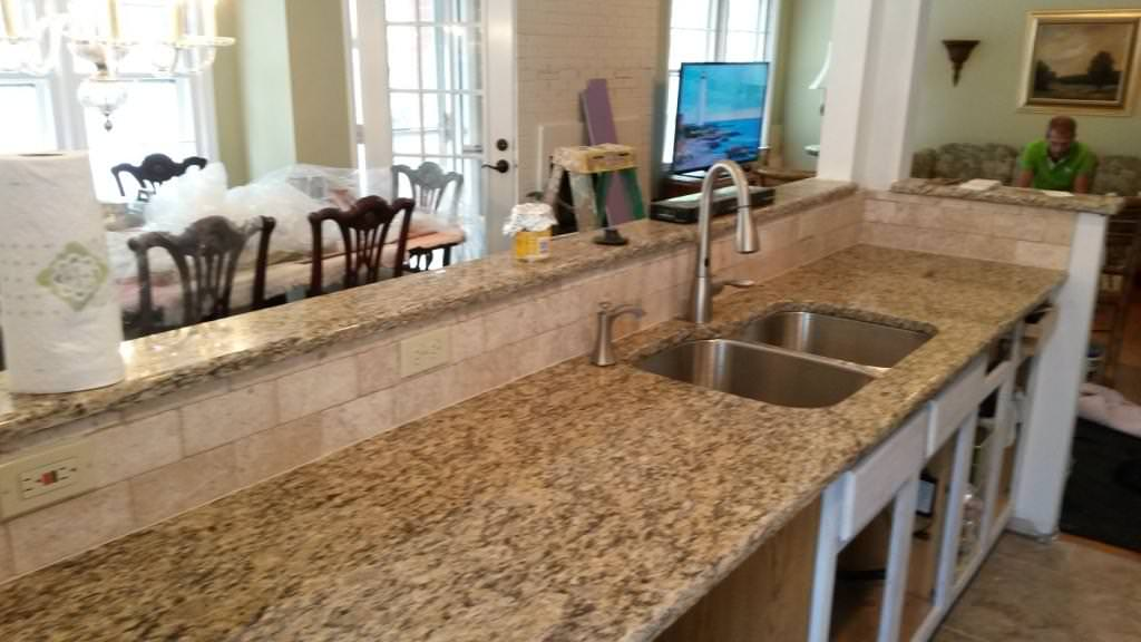 Image of: Santa Cecilia Granite Vanity Top