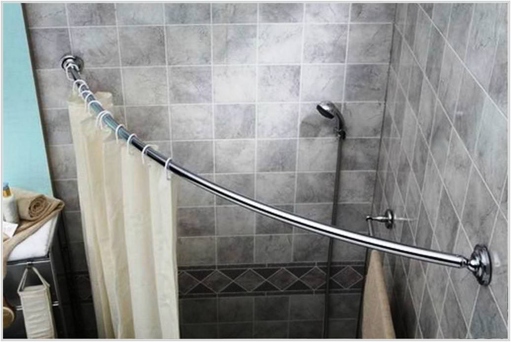 Image of: Shower Curtain Rods Corner