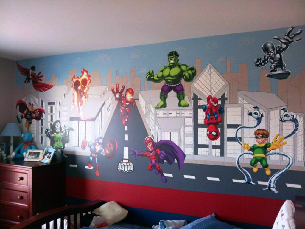 Picture of: Superhero Nursery Wall Art