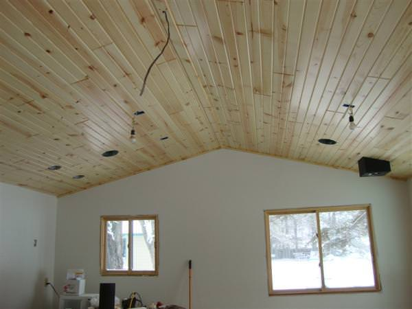 Image of: Tongue And Groove Ceiling Lowe'S