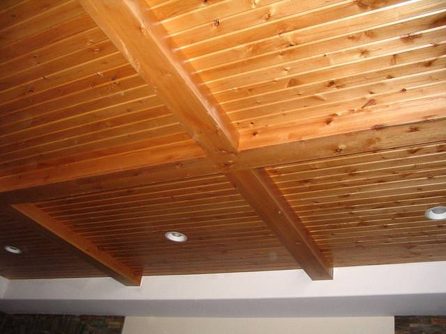 Image of: Tongue And Groove Ceiling Lowes