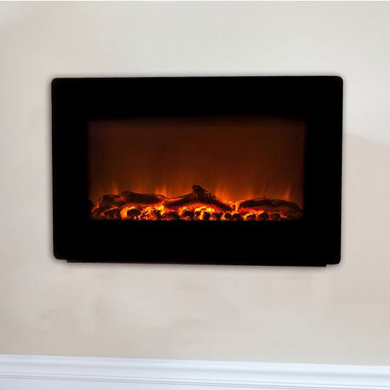 Image of: Wall Fireplace Lowes