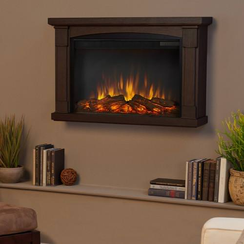 Image of: Wall Mount Electric Fireplace Heater
