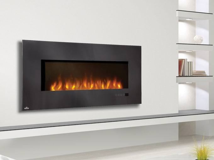 Image of: Wall Mount Fireplace Lowes