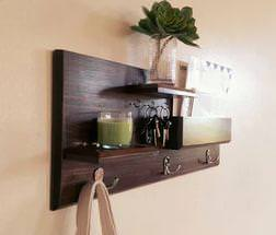 Picture of: Wall Mounted Coat Rack With Shelf