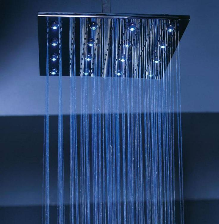 Image of: Waterfall Shower Head Ceiling