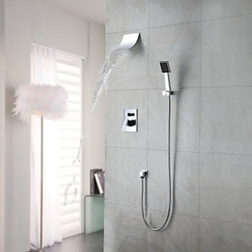 Image of: Waterfall Shower Head Height