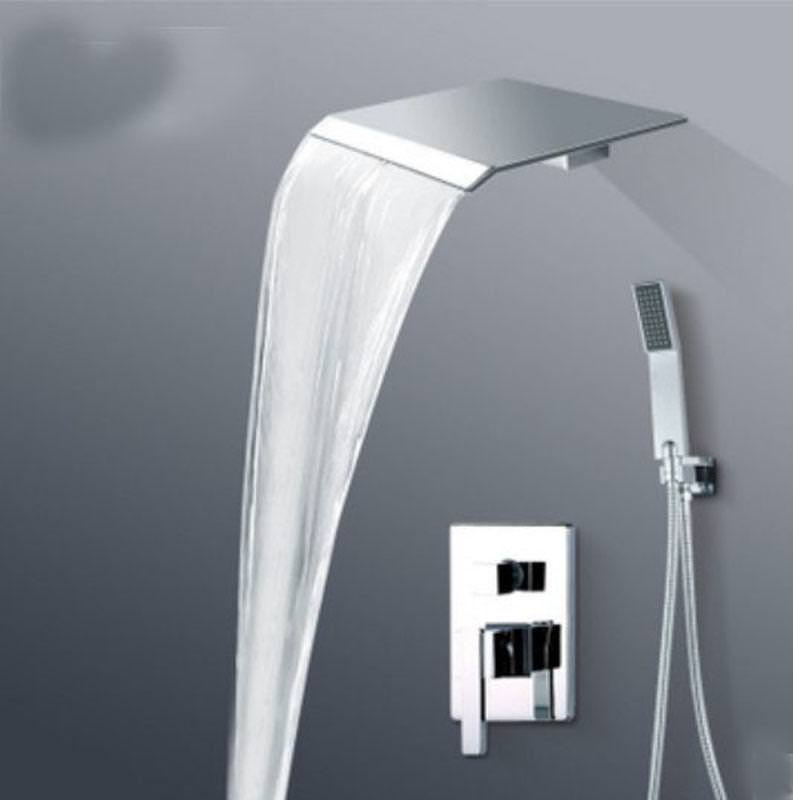 Image of: Waterfall Shower Head Home Depot