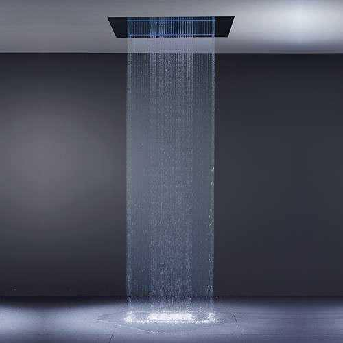 Image of: Waterfall Shower Head Kohler