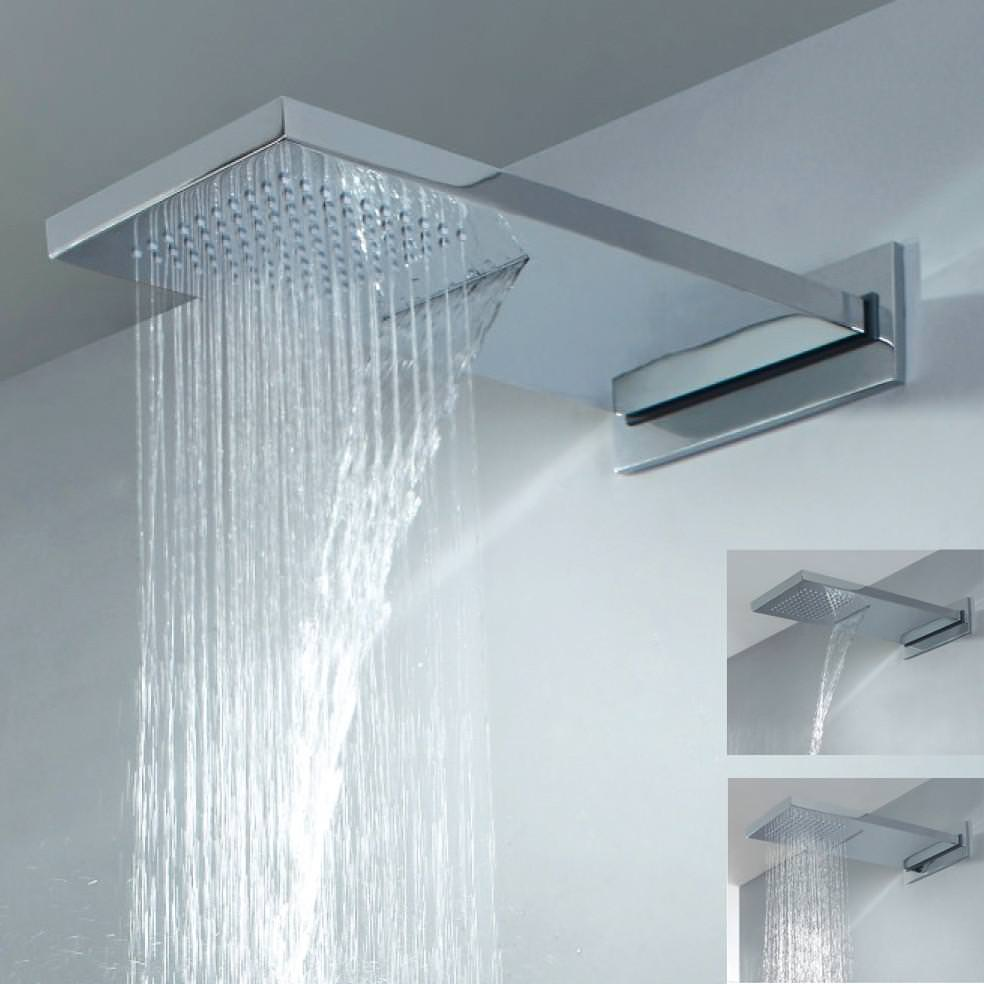 Image of: Waterfall Shower Head Uk