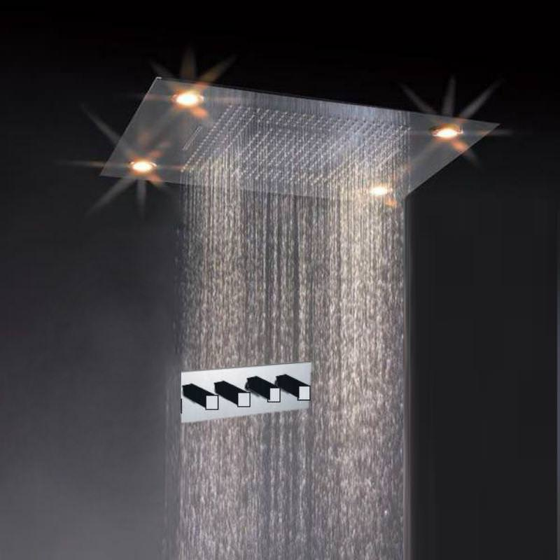 Image of: Waterfall Shower Head With Handheld