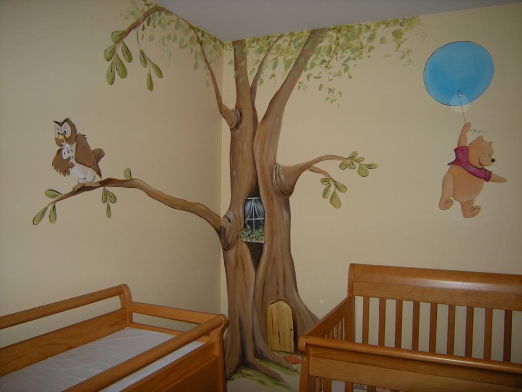 Picture of: Winnie The Pooh Nursery Decals