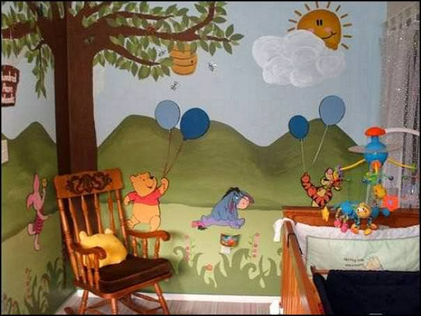 Picture of: Winnie The Pooh Nursery Fabric