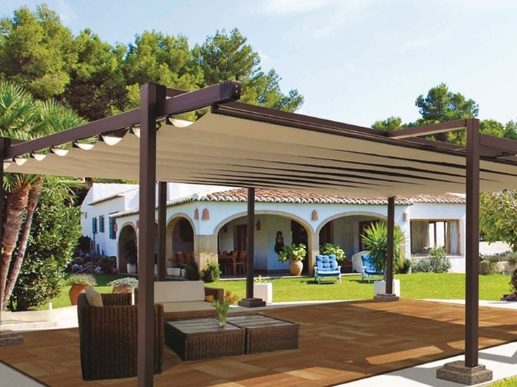 Image of: Adjustable Pergola Covers