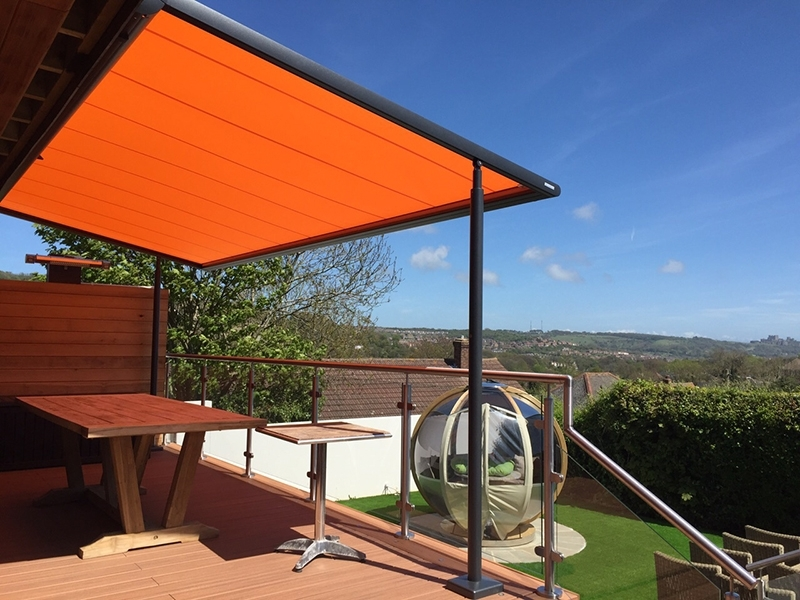 Image of: Automatic Pergola Covers