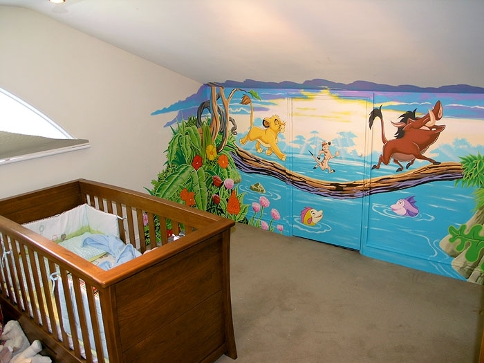 Image of: Baby Boy Nursery Murals
