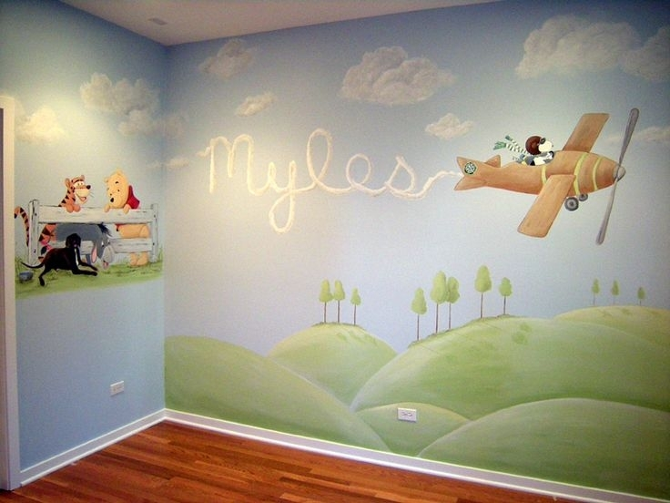 Image of: Baby Room Murals Do It Yourself