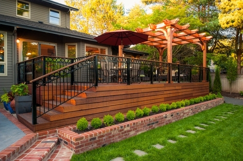 Image of: Covered Pergola Attached To House