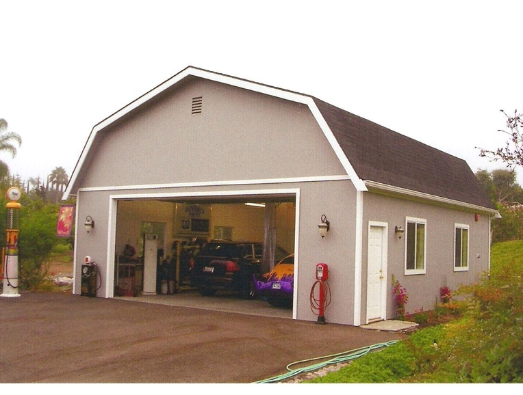 Image of: Gambrel Roof Garage