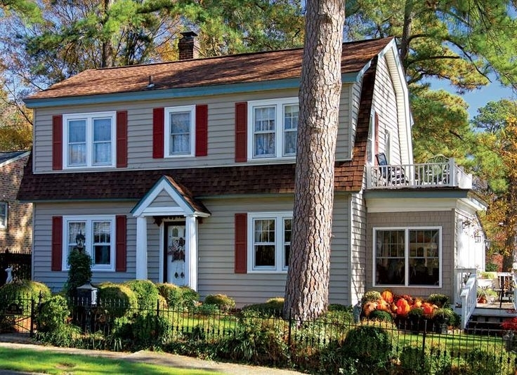 Image of: Gambrel Roof Homes
