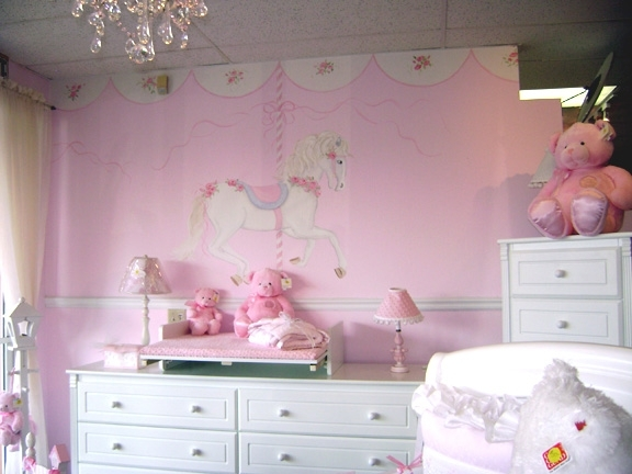 Image of: Nursery Hand Painted Murals