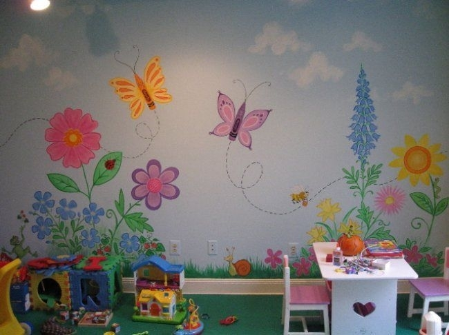 Image of: Nursery Mural Ideas