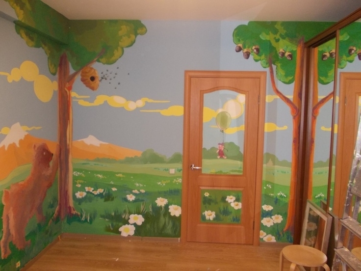 Image of: Nursery Murals Hand Painted