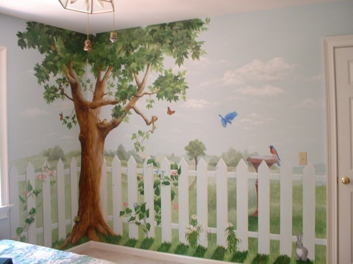 Image of: Awesome Nursery Murals Ideas