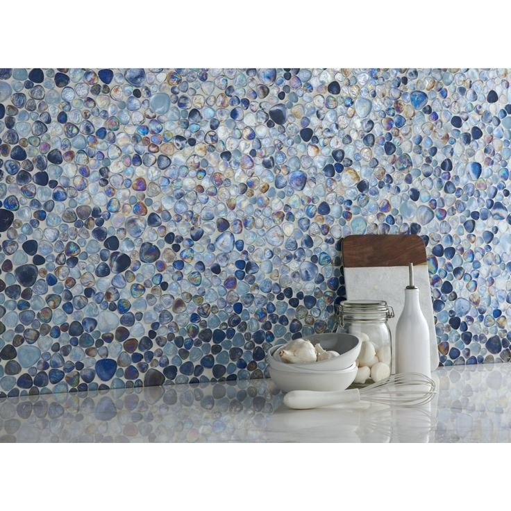Image of: Pebble Beach Glass Mosaic Tile