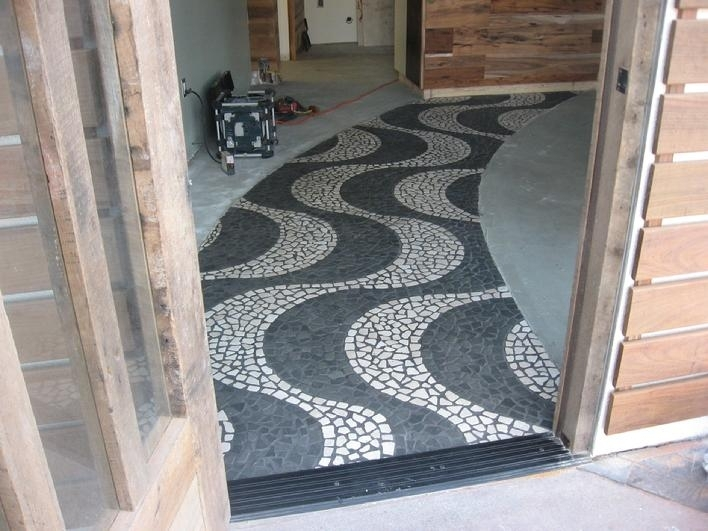 Image of: Pebble Tile Mosaics