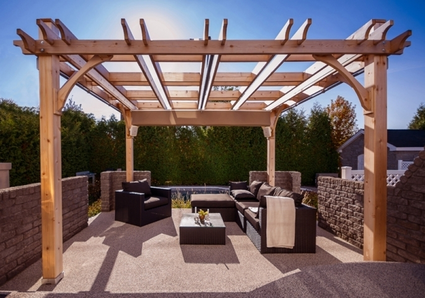 Image of: Retractable Pergola Covers