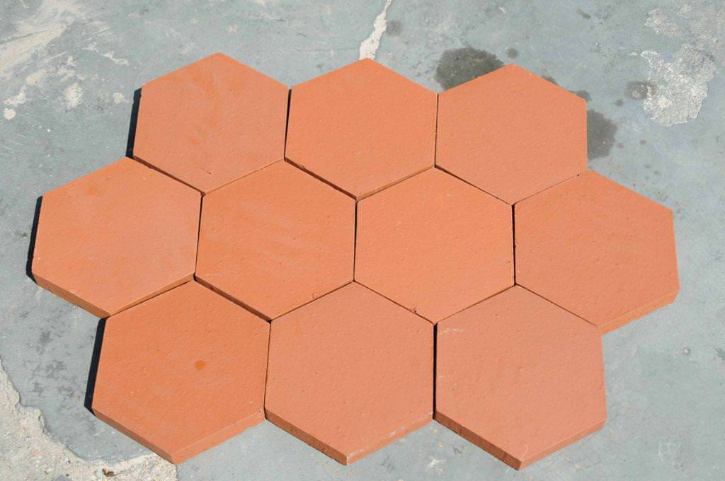 Image of: 4 Inch Hexagon Floor Tile