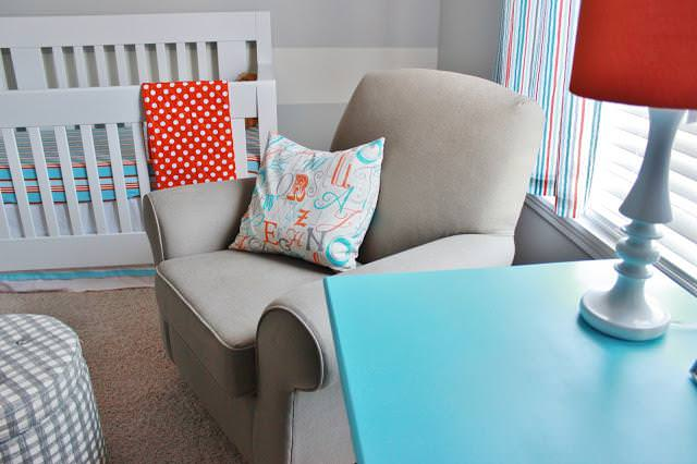 Image of: Aqua And Grey Nursery Bedding