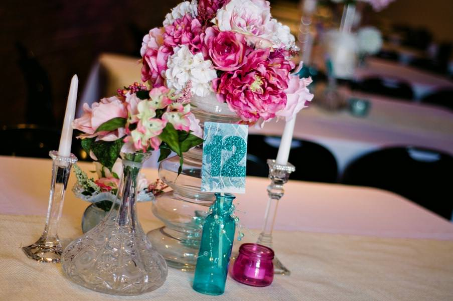 Image of: Aqua And Pink Wedding
