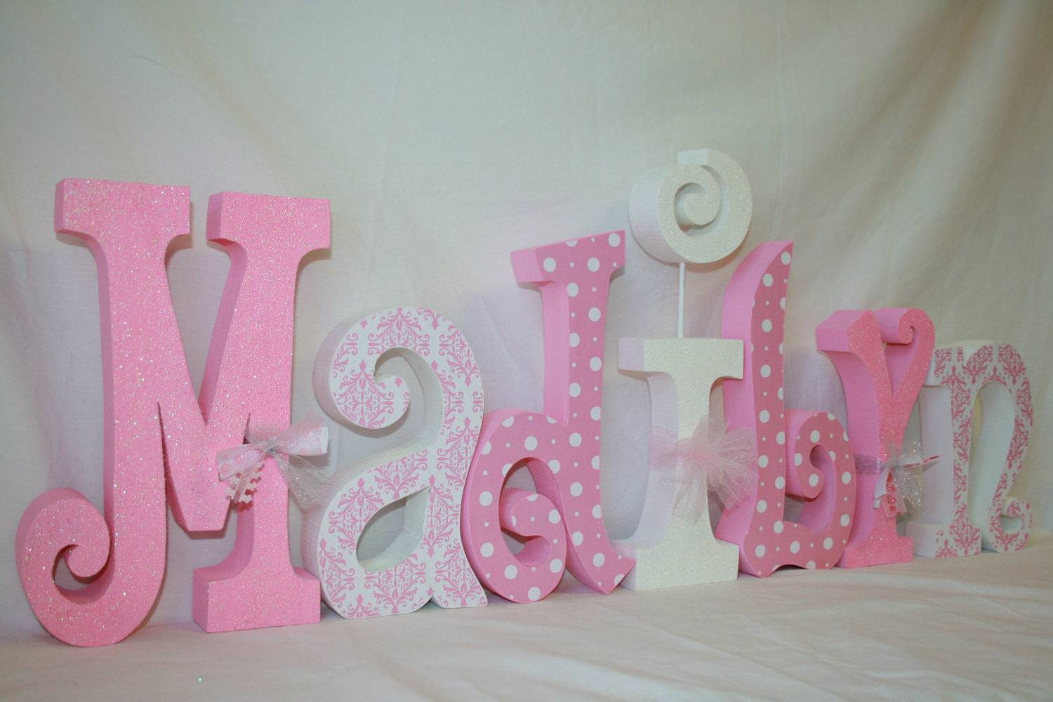 Picture of: Baby Name Letters For Nursery Wall